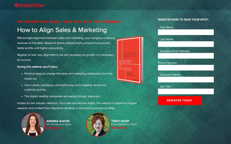 Webinar: How to Align Sales & Marketing - We Wrote the Book, Now You Get the Answers