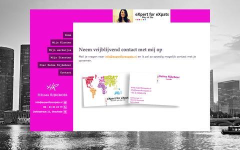 Screenshot of Contact Page expertforexpats.nl - Helma Rijkeboer - captured Sept. 30, 2014