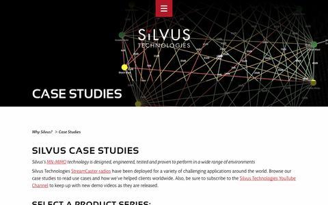 Screenshot of Case Studies Page silvustechnologies.com - Silvus MN-MIMO Technology Case Studies | StreamCaster Radios - captured Oct. 20, 2018