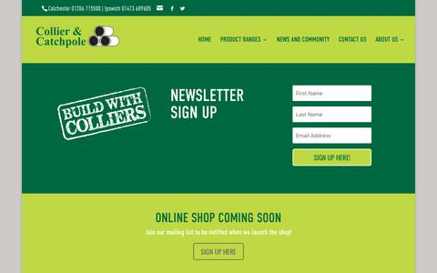 Screenshot of Signup Page colliercatchpole.co.uk - Sign Up | Collier & Catchpole Builders Merchants - captured Aug. 13, 2017