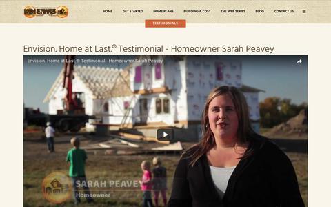 Screenshot of Testimonials Page envisionhomeatlast.com - Testimonials - Envision. Home at Last. - captured May 19, 2017