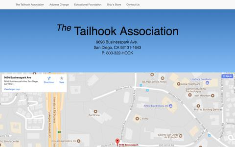 Screenshot of Maps & Directions Page tailhook.net - Map - captured Oct. 26, 2017