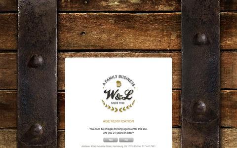 Screenshot of Contact Page wlsales.com - Contact us   W&L Sales - captured Oct. 7, 2014