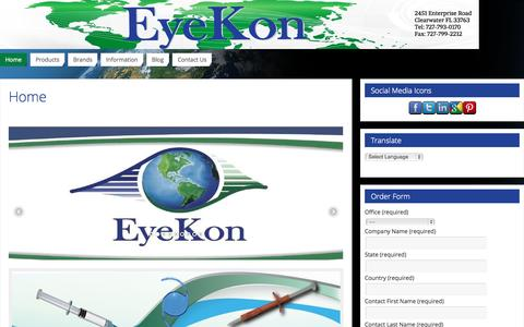 Screenshot of Home Page eyekonmedical.com - Intraocular Lens Manufacturer | Eyekon Medical - captured Sept. 17, 2015