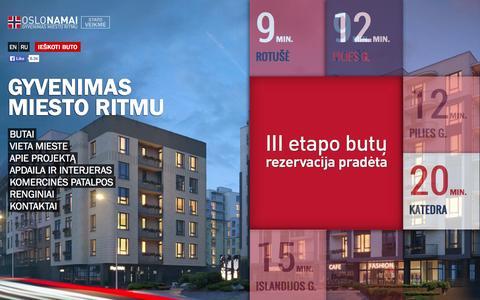 Screenshot of Home Page oslonamai.lt - Oslo namai - captured Oct. 7, 2014