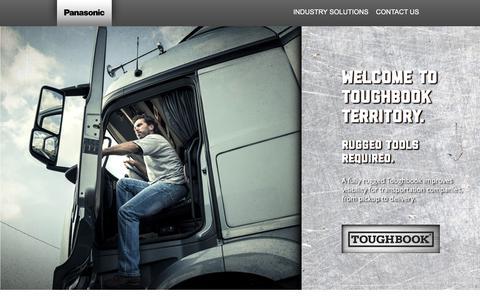 Screenshot of Landing Page panasonic.com - Toughbook Territory – Panasonic Toughbook Transportation Solutions - captured Aug. 23, 2016