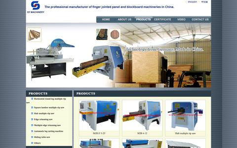Screenshot of Products Page multipleripsaw.com - PRODUCTS--Fujian SY Wood-working Machinery Co., Ltd. - captured Oct. 4, 2014