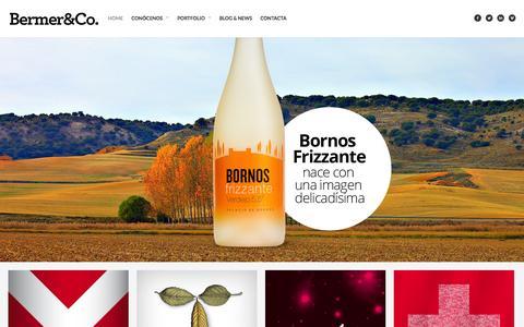 Screenshot of Home Page bermer.es - Bermer&Co.Bermer&Co. Agencia de comunicación y diseño - captured Oct. 5, 2014