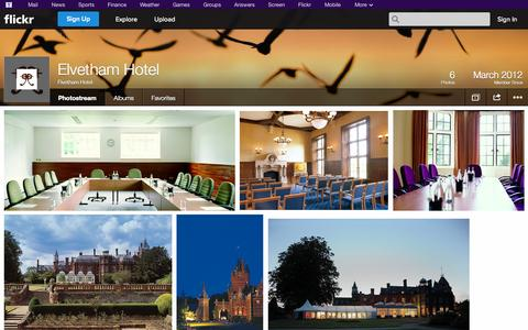 Screenshot of Flickr Page flickr.com - Flickr: Elvetham Hotel's Photostream - captured Oct. 26, 2014