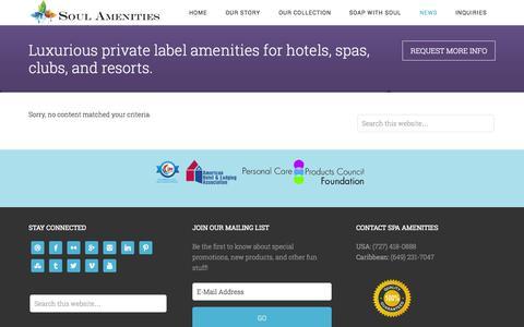 Screenshot of Press Page soulamenities.com - SOUL Amenities Latest Product News & Updates | Soul Amenities - captured Sept. 30, 2014