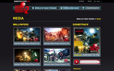 Screenshot of Press Page madfingergames.com - DEAD TRIGGER 2 - captured Sept. 25, 2014