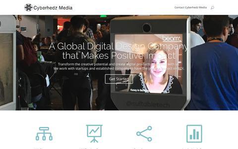 Screenshot of Home Page cyberhedzmedia.com - Cyberhedz Media - captured Nov. 14, 2016