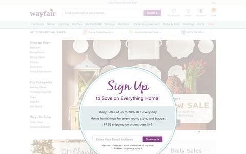 Screenshot of Home Page wayfair.com - Wayfair.com - Online Home Store for Furniture, Decor, Outdoors & More | Wayfair - captured Nov. 19, 2015