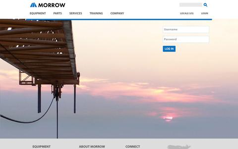 Screenshot of Login Page morrow.com - User login | MORROW - captured Oct. 25, 2014