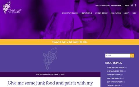 Screenshot of Blog travelingvineyard.com - Traveling Vineyard Blog   Wine Direct Sales at Home Business - captured Dec. 22, 2016