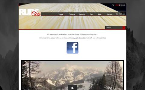 Screenshot of Home Page rudeskis.com - RUDEskis.com | Handmade skis tailored to your personal needs - captured Oct. 7, 2014