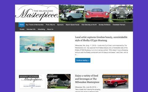 Screenshot of Home Page milwaukeemasterpiece.com - The Milwaukee Masterpiece - captured Aug. 16, 2015