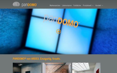 Screenshot of Home Page pandomo.de - Pandomo: Pandomo - captured Nov. 27, 2018