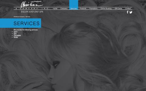 Screenshot of Services Page christinaspa.com - Services - Christina & Company  in Lafayette, IN - captured Oct. 2, 2014
