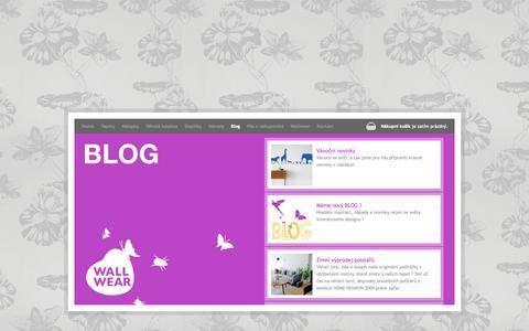 Screenshot of Blog wallwear.cz - Blog -  Wallwear - captured Oct. 8, 2014