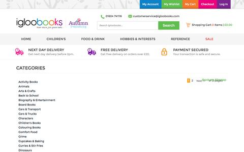 Screenshot of Site Map Page igloobooks.com - Site Map - captured Aug. 5, 2016