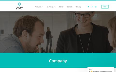 Screenshot of About Page olery.com - Company - Olery - captured Nov. 4, 2018