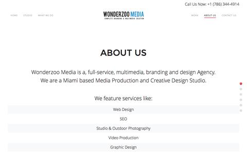 Screenshot of About Page wonderzoomedia.com - About Us | Miami Branding Agency | Wonderzoo Media - captured Dec. 18, 2016