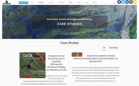 Screenshot of Case Studies Page questuav.com - Case Studies | QuestUAV - captured Sept. 20, 2017