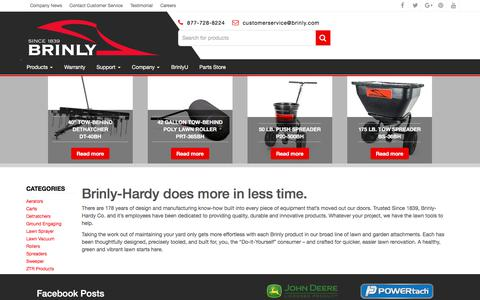 Screenshot of Home Page brinly.com - Brinly-Hardy Trusted Since 1839 | Brinly-Hardy Lawn and Garden Attachments - captured Oct. 11, 2017