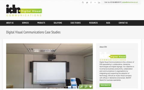 Screenshot of Case Studies Page digitalvisualcomms.co.uk - Digital Visual Communications Case Studies - captured Oct. 5, 2014