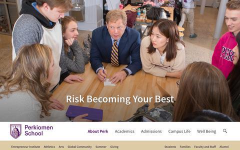 Screenshot of Contact Page perkiomen.org - Contact Us - Perkiomen School - captured Oct. 18, 2017