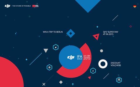 Screenshot of Landing Page dji.com - IFA 2015   DJI - captured Aug. 18, 2016