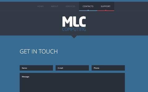 Screenshot of Contact Page mlccomputing.co.uk - Contacts - captured Nov. 18, 2016