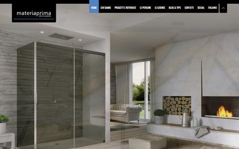 Screenshot of Home Page mapri.it - Home   MATERIAPRIMAMATERIAPRIMA   Oltre il prodotto - captured Oct. 6, 2014