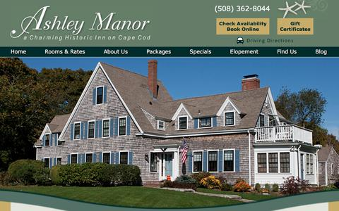 Screenshot of Contact Page Maps & Directions Page ashleymanor.net - Find Our B&B near Cape Cod Bay & Barnstable Harbor - captured July 3, 2018