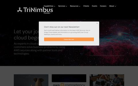 Let your journey to the cloud begin with us - TriNimbus