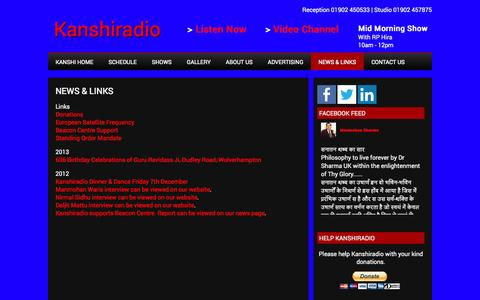 Screenshot of Press Page kanshiradio.com - News & Links   Kanshiradio - captured Oct. 6, 2014