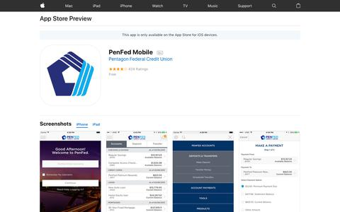 PenFed Mobile on the AppStore