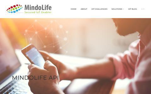 Screenshot of Developers Page mindolife.com - MindoLife APIs - MindoLife IoT - captured Oct. 20, 2018