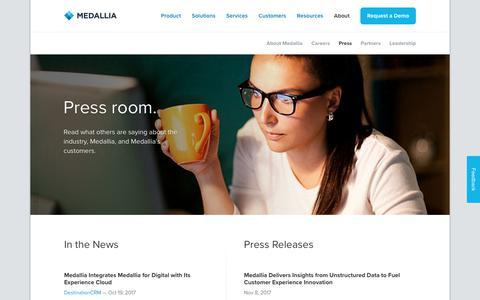 Press room. - Medallia