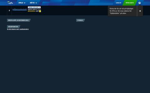 Screenshot of Home Page atg.se - ATG.se - captured Oct. 10, 2015