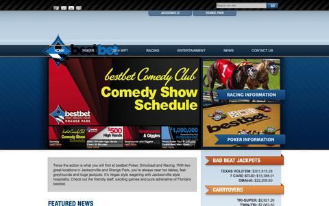 Screenshot of Home Page jaxkennel.com - bestbet | Poker – Simulcast – Racing - captured Oct. 3, 2014