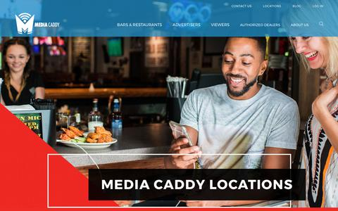 Screenshot of Locations Page mediacaddy.com - U.S. Locations | Media Caddy - captured June 10, 2017