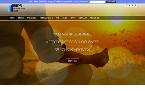 Screenshot of Home Page mp3-meditation-club.com - Isochronic Tones | Meditation MP3 | Mp3 Meditation club - captured Sept. 5, 2016