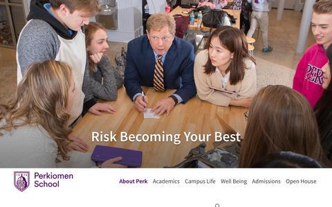 Screenshot of Contact Page perkiomen.org - Contact Us - Perkiomen School - captured Oct. 18, 2018