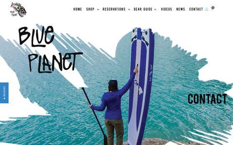 Screenshot of Contact Page blueplanetsurf.com - Contact   Blue Planet Surf Hawaii - captured Nov. 22, 2016