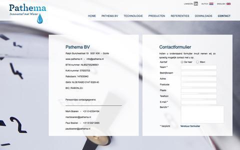Screenshot of Contact Page pathema.nl - contactgegevens Pathema - captured Oct. 2, 2014