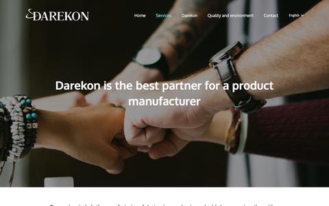 Screenshot of Services Page darekon.fi - Services - Darekon - captured Oct. 9, 2017