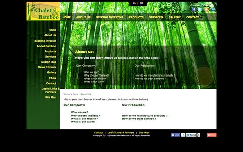Screenshot of About Page chalet-bamboo.com - About us - Chalet & Bamboo - captured Oct. 2, 2014