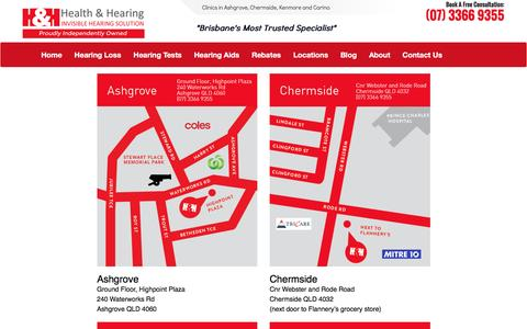 Screenshot of Locations Page healthandhearing.com.au - New Locations - Health and Hearing - captured July 13, 2016